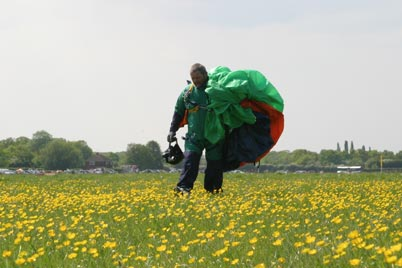 Dennis, the drop zone covered in buttercups