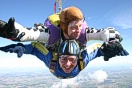 Jumping for charity or doing a sponsored parachute jump.