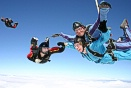 Mark Maynard and passenger Fiona Hodge being joined in freefall.